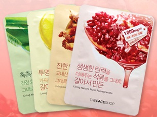 face shop Korean face masks