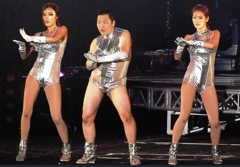 psy in weird outfit